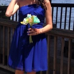 Alfred Angelo cobalt blue bridesmaid dress